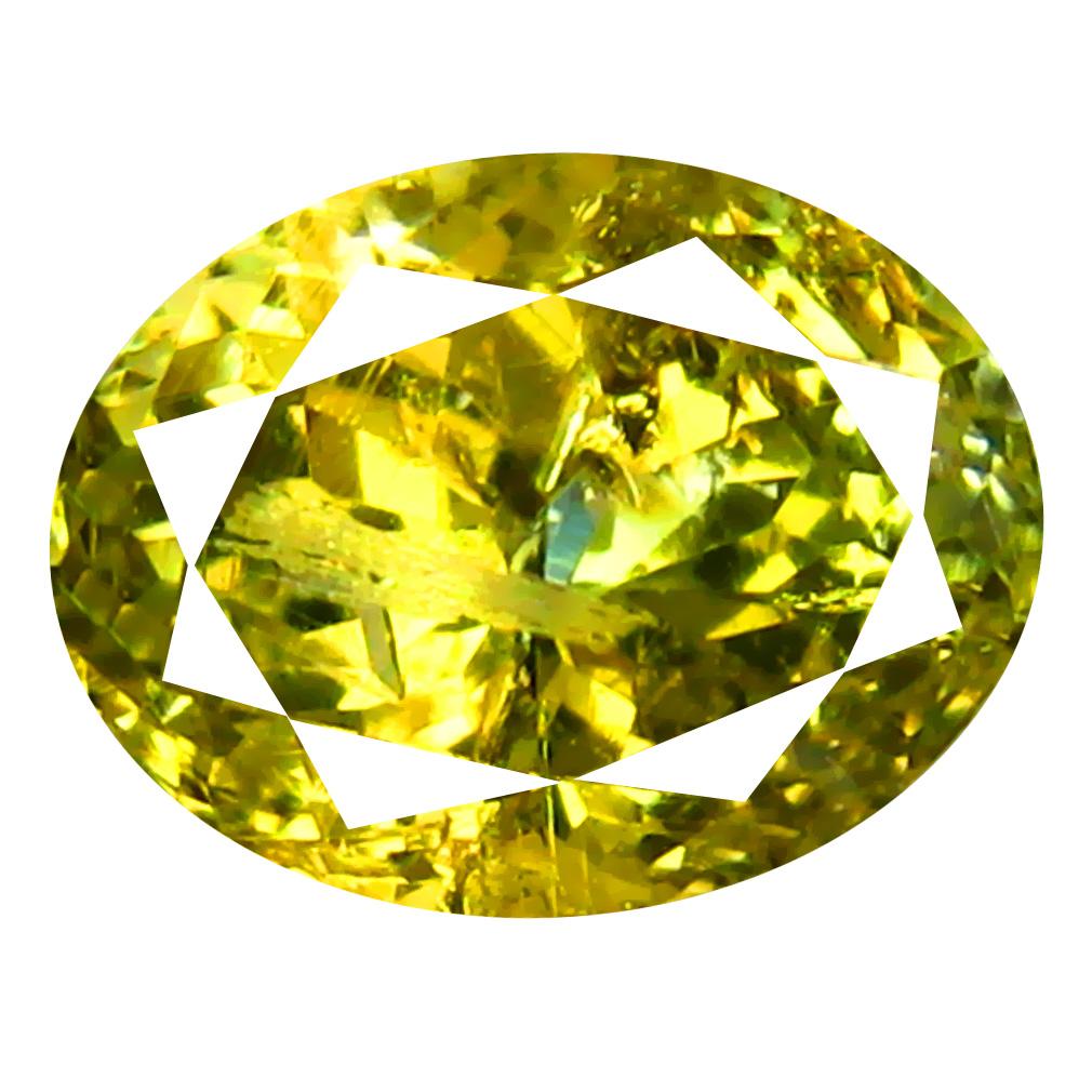 1.68 ct AAA+ Splendid Oval Shape (8 x 6 mm) Fancy Golden Yellow Tanzanite Natural Gemstone