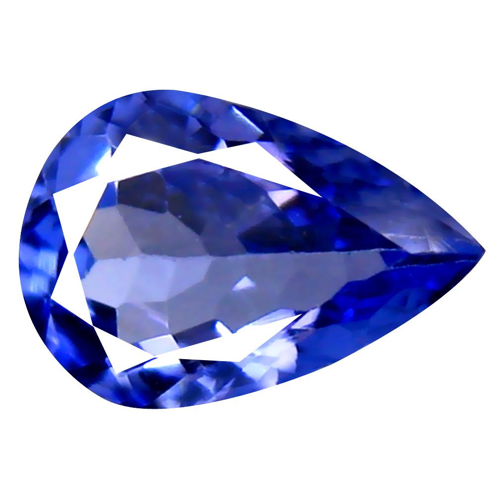 0.64 ct AAA Eye-opening Pear Cut (7 x 5 mm) Bluish Violet Tanzanite Natural Gemstone