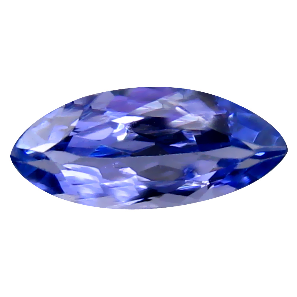 0.53 ct AAA Mind-Boggling Marquise Cut (8 x 4 mm) Purplish Blue Tanzanite Natural Gemstone