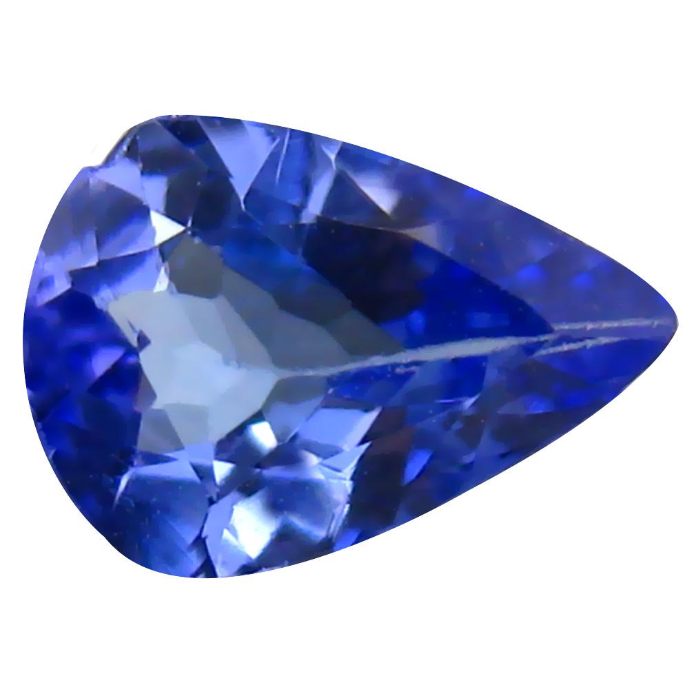 0.53 ct AAA Flashing Pear Cut (7 x 5 mm) Purplish Blue Tanzanite Natural Gemstone