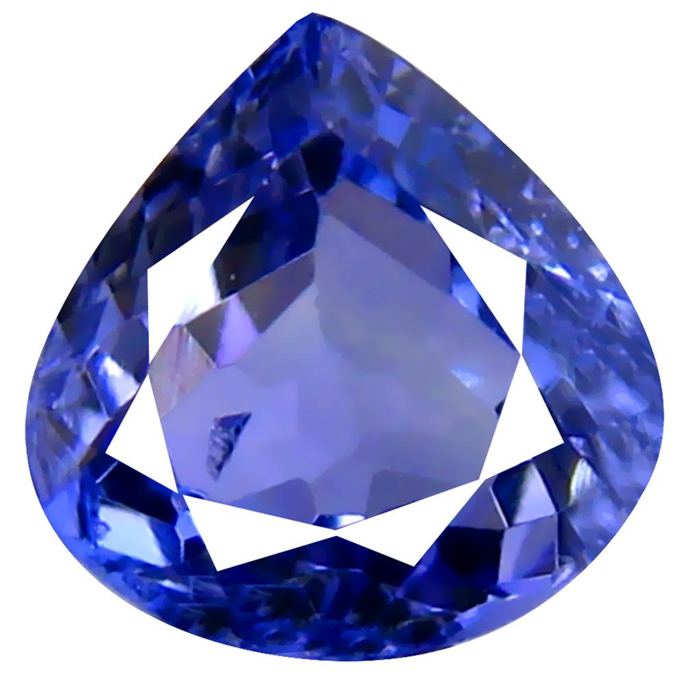 0.80 ct AAA Dazzling Pear Cut (6 x 6 mm) Purplish Blue Tanzanite Natural Gemstone