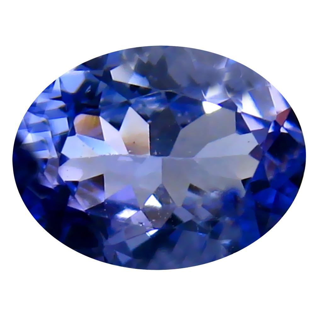 1.43 ct AAA Fabulous Oval Cut (9 x 7 mm) Bluish Violet Tanzanite Natural Gemstone