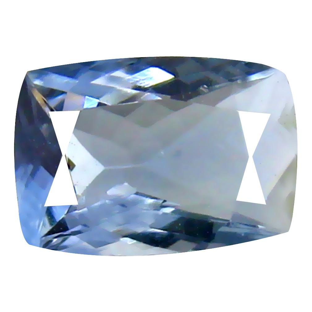 0.84 ct AAA Eye-catching Cushion Cut (8 x 5 mm) Bluish Violet Tanzanite Natural Gemstone