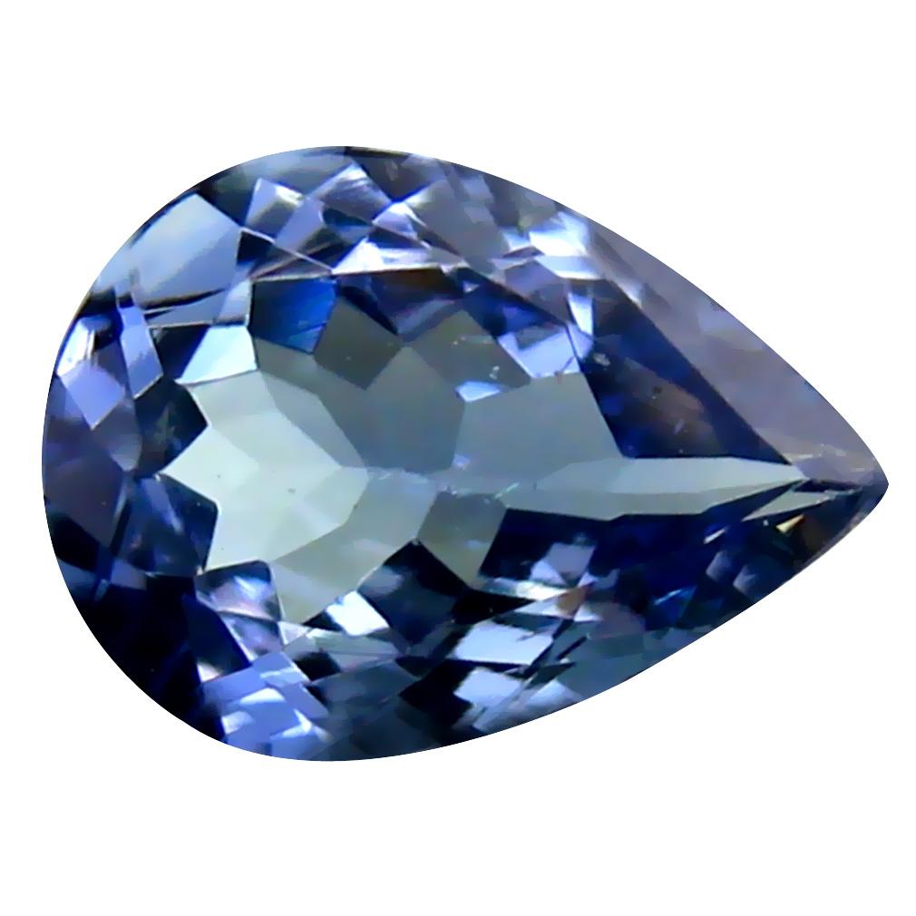 1.18 ct AAA Fabulous Pear Cut (9 x 6 mm) Bluish Violet Tanzanite Natural Gemstone
