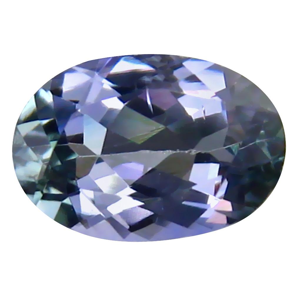 0.73 ct AAA Terrific Oval Cut (7 x 5 mm) Bluish Violet Tanzanite Natural Gemstone