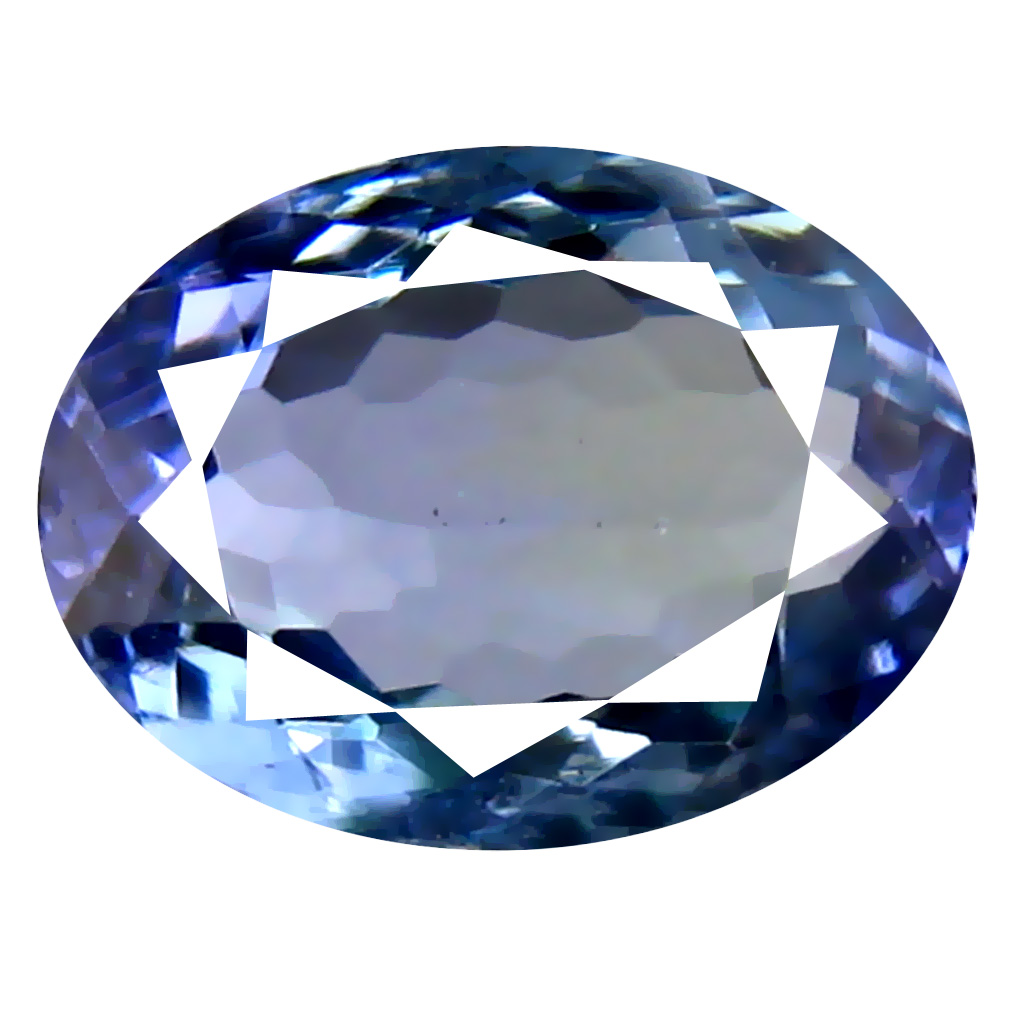 1.41 ct AAA Incomparable Oval Cut (8 x 6 mm) Bluish Violet Tanzanite Natural Gemstone