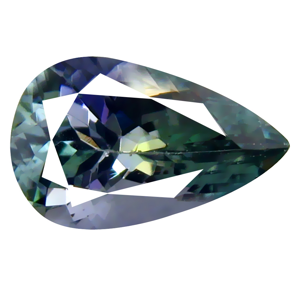 1.52 ct AAA Astonishing Pear Cut (10 x 6 mm) Bluish Violet Tanzanite Natural Gemstone