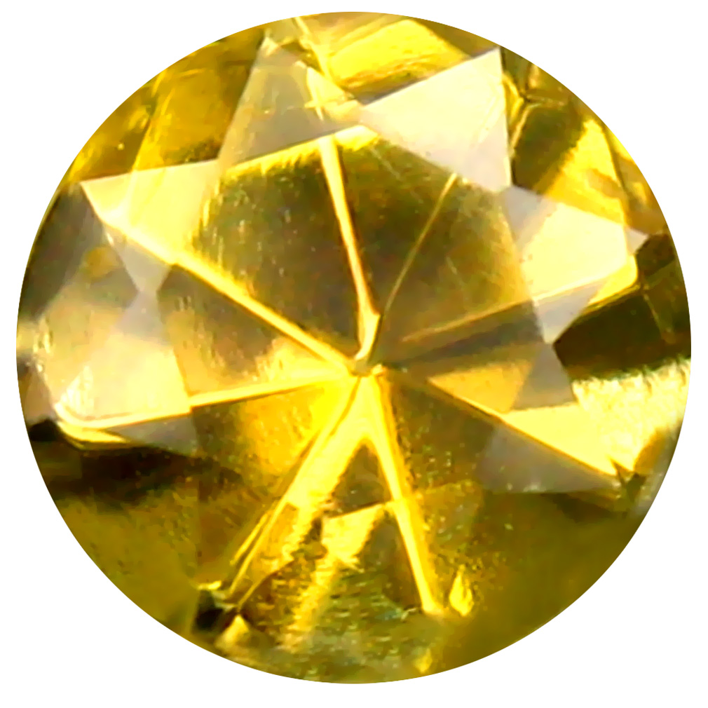 0.55 ct AAA Great looking Round Shape (5 x 5 mm) Fancy Golden Yellow Tanzanite Natural Gemstone