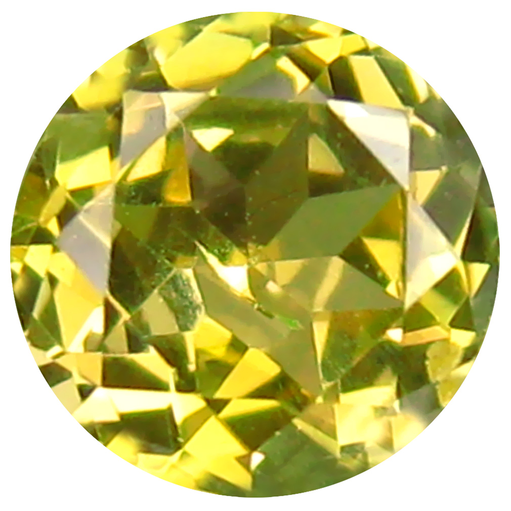 0.46 ct AAA Excellent Round Shape (5 x 5 mm) Fancy Golden Yellow Tanzanite Natural Gemstone