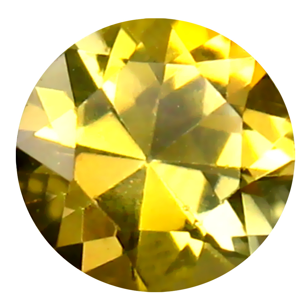 0.43 ct AAA Very good Round Shape (5 x 5 mm) Fancy Golden Yellow Tanzanite Natural Gemstone