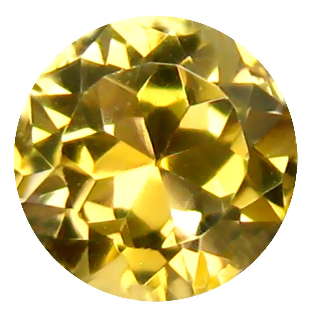0.50 ct AAA Incredible Round Shape (5 x 5 mm) Fancy Golden Yellow Tanzanite Natural Gemstone