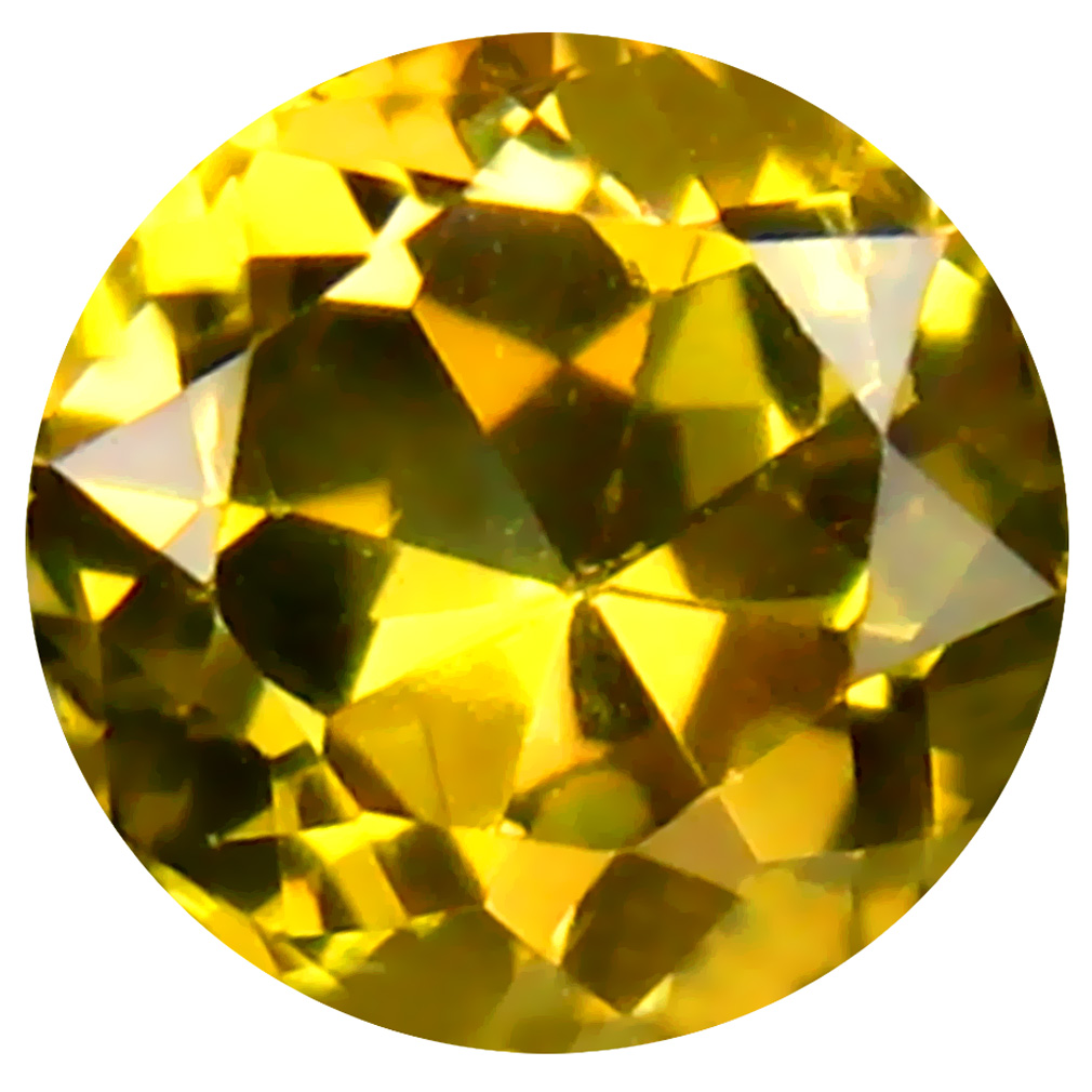 0.47 ct AAA Excellent Round Shape (5 x 5 mm) Fancy Golden Yellow Tanzanite Natural Gemstone