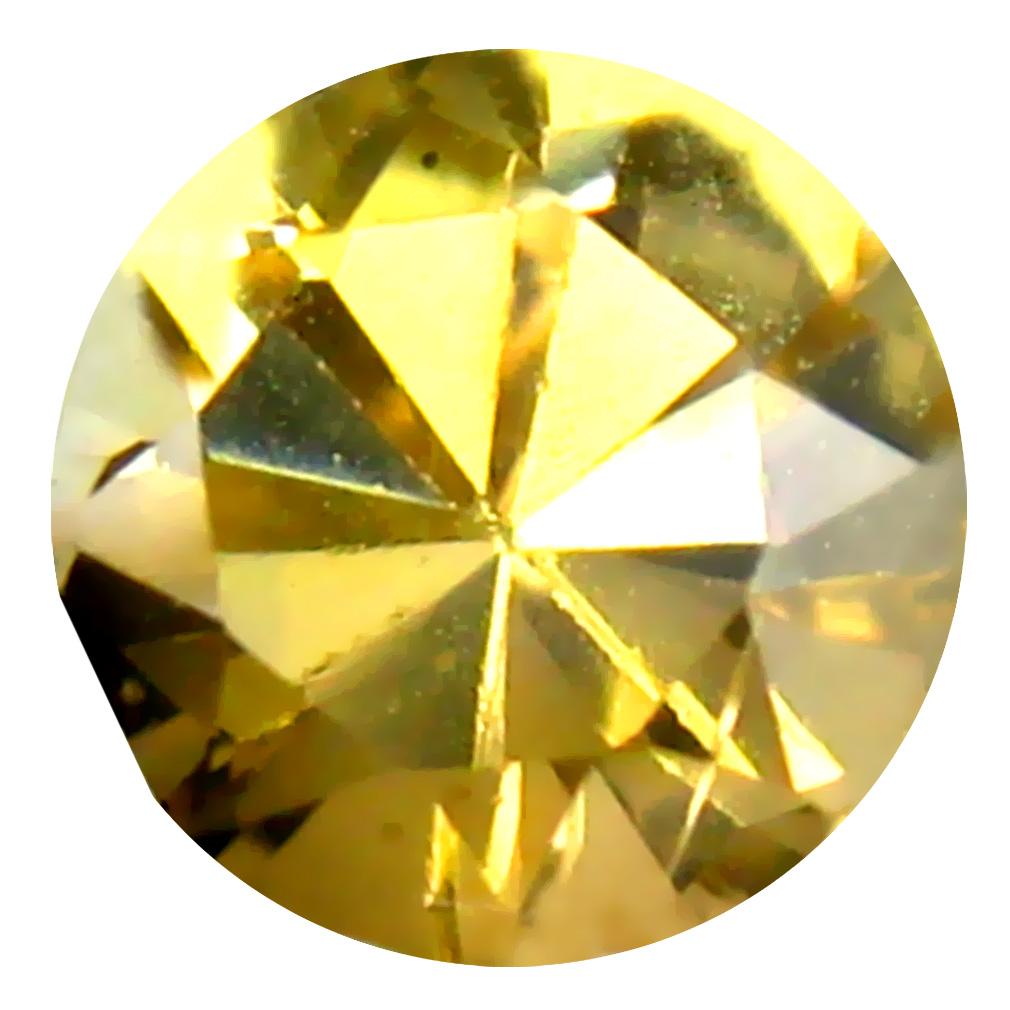 0.48 ct AAA Fantastic Round Shape (5 x 5 mm) Fancy Golden Yellow Tanzanite Natural Gemstone