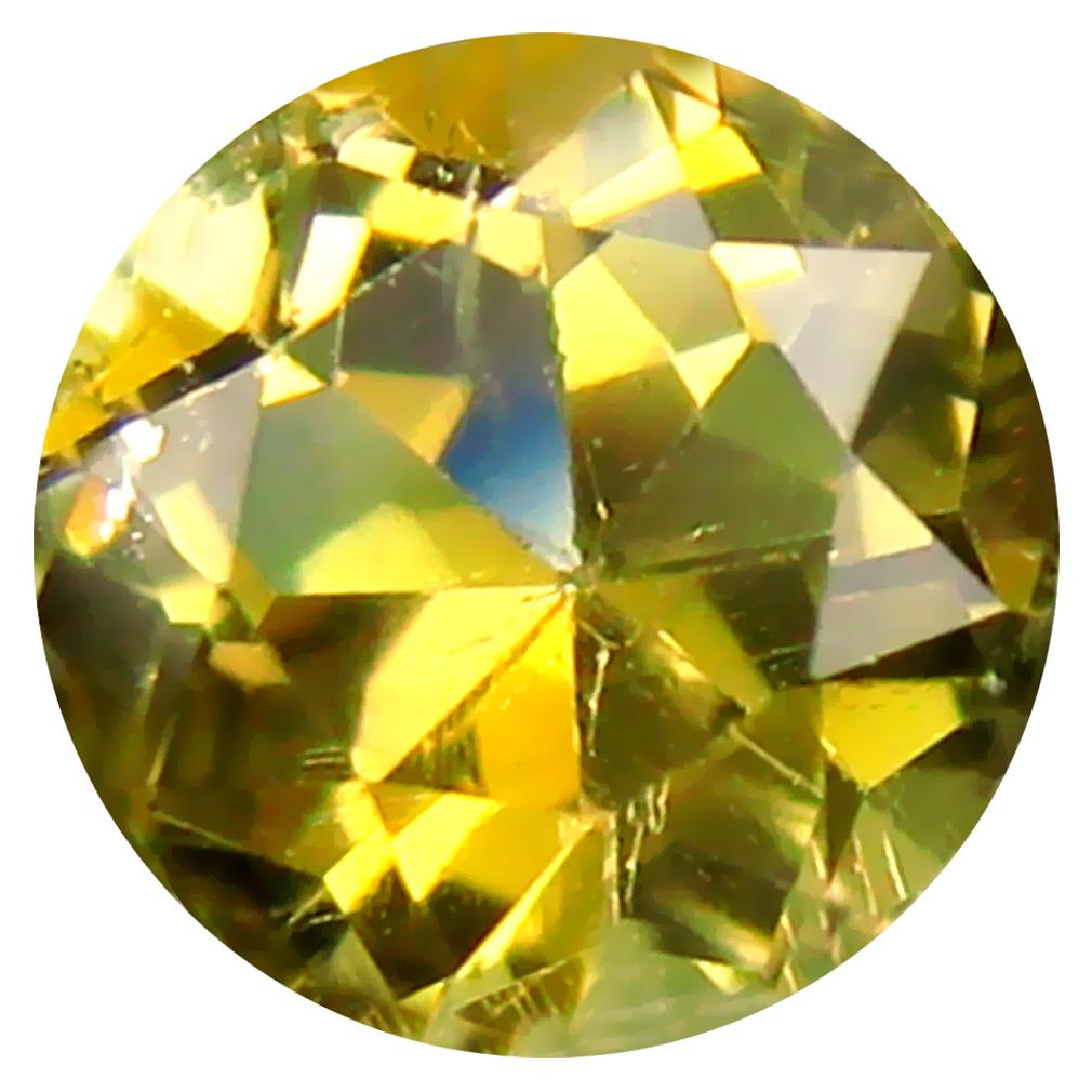 0.67 ct AAA Phenomenal Round Shape (5 x 5 mm) Fancy Golden Yellow Tanzanite Natural Gemstone