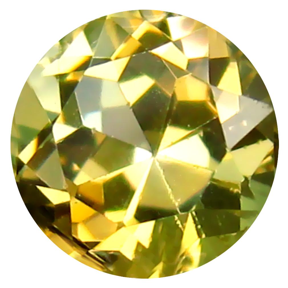 0.68 ct AAA Premium Round Shape (5 x 5 mm) Fancy Golden Yellow Tanzanite Natural Gemstone
