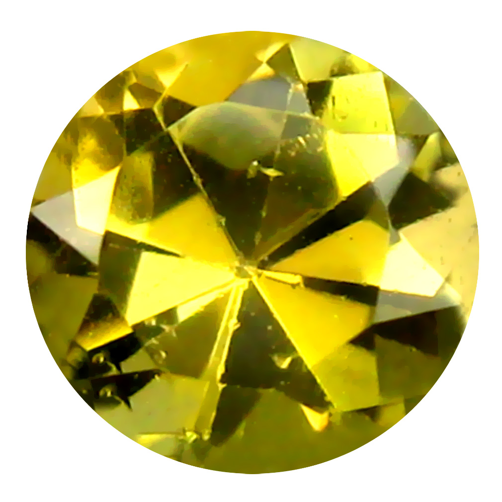 0.54 ct AAA Charming Round Shape (5 x 5 mm) Fancy Golden Yellow Tanzanite Natural Gemstone