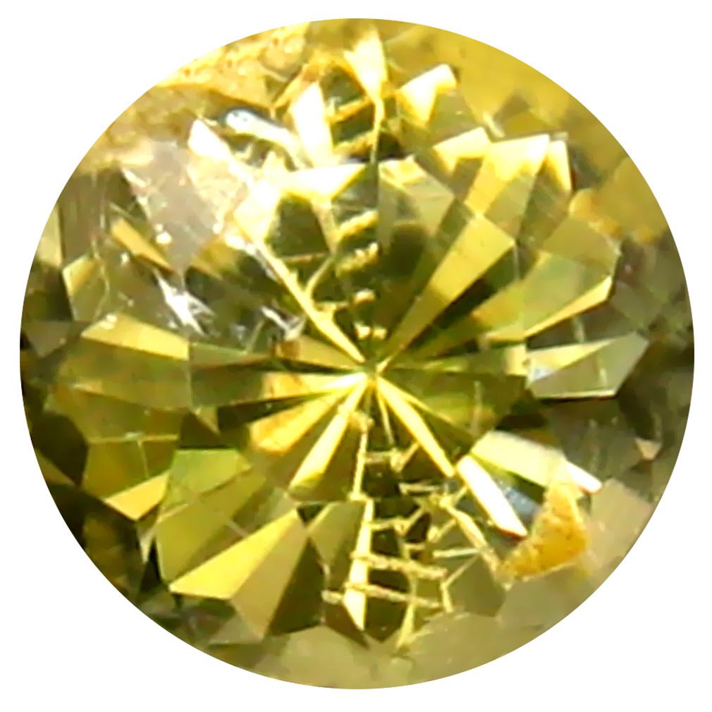 0.45 ct AAA Premium Round Shape (5 x 5 mm) Fancy Golden Yellow Tanzanite Natural Gemstone
