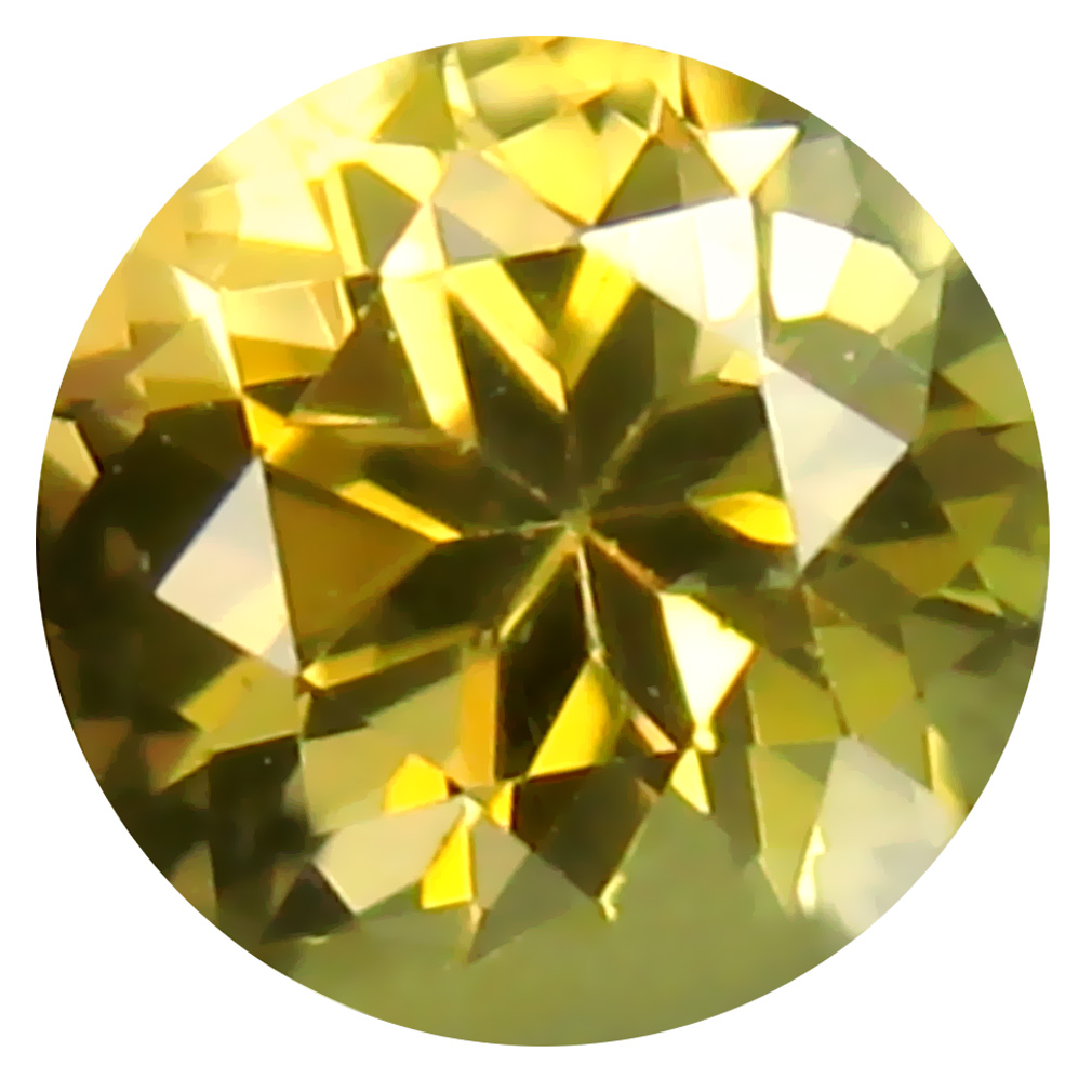 0.57 ct AAA Attractive Round Shape (5 x 5 mm) Fancy Golden Yellow Tanzanite Natural Gemstone