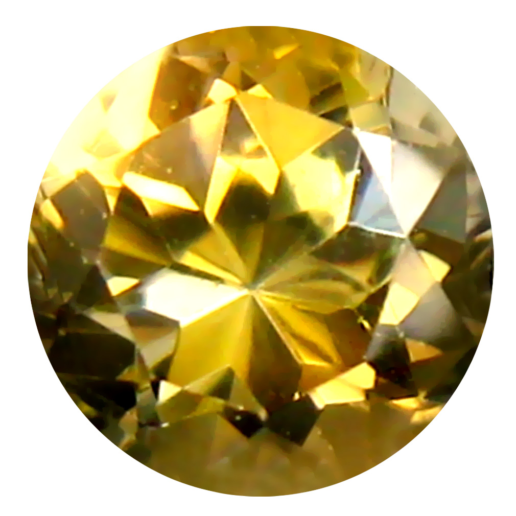 0.50 ct AAA Unbelievable Round Shape (5 x 5 mm) Fancy Golden Yellow Tanzanite Natural Gemstone
