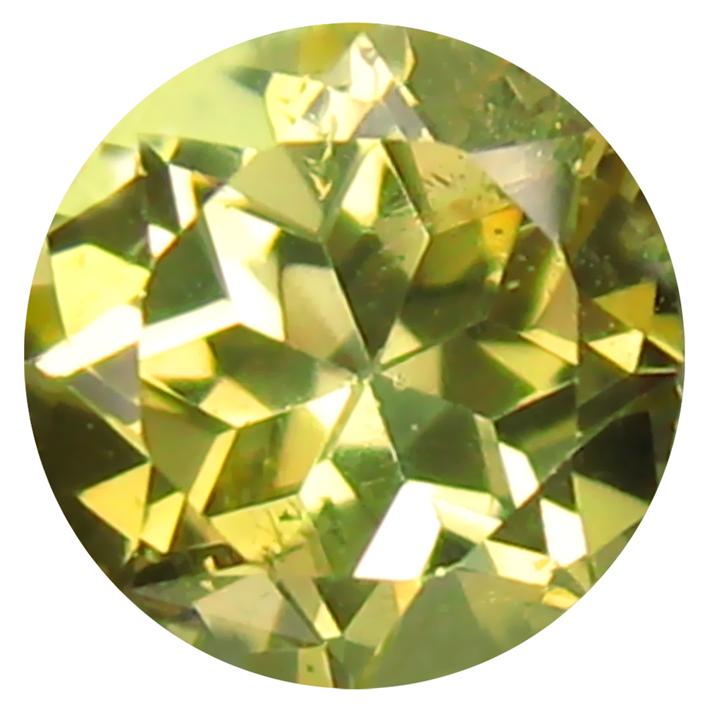0.48 ct AAA Spectacular Round Shape (5 x 5 mm) Fancy Golden Yellow Tanzanite Natural Gemstone