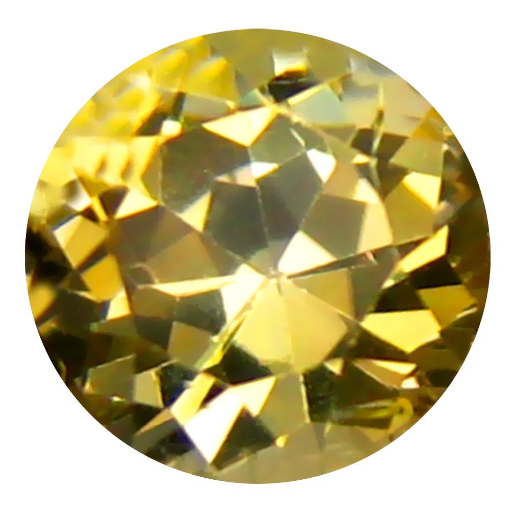 0.53 ct AAA Splendid Round Shape (5 x 5 mm) Fancy Golden Yellow Tanzanite Natural Gemstone