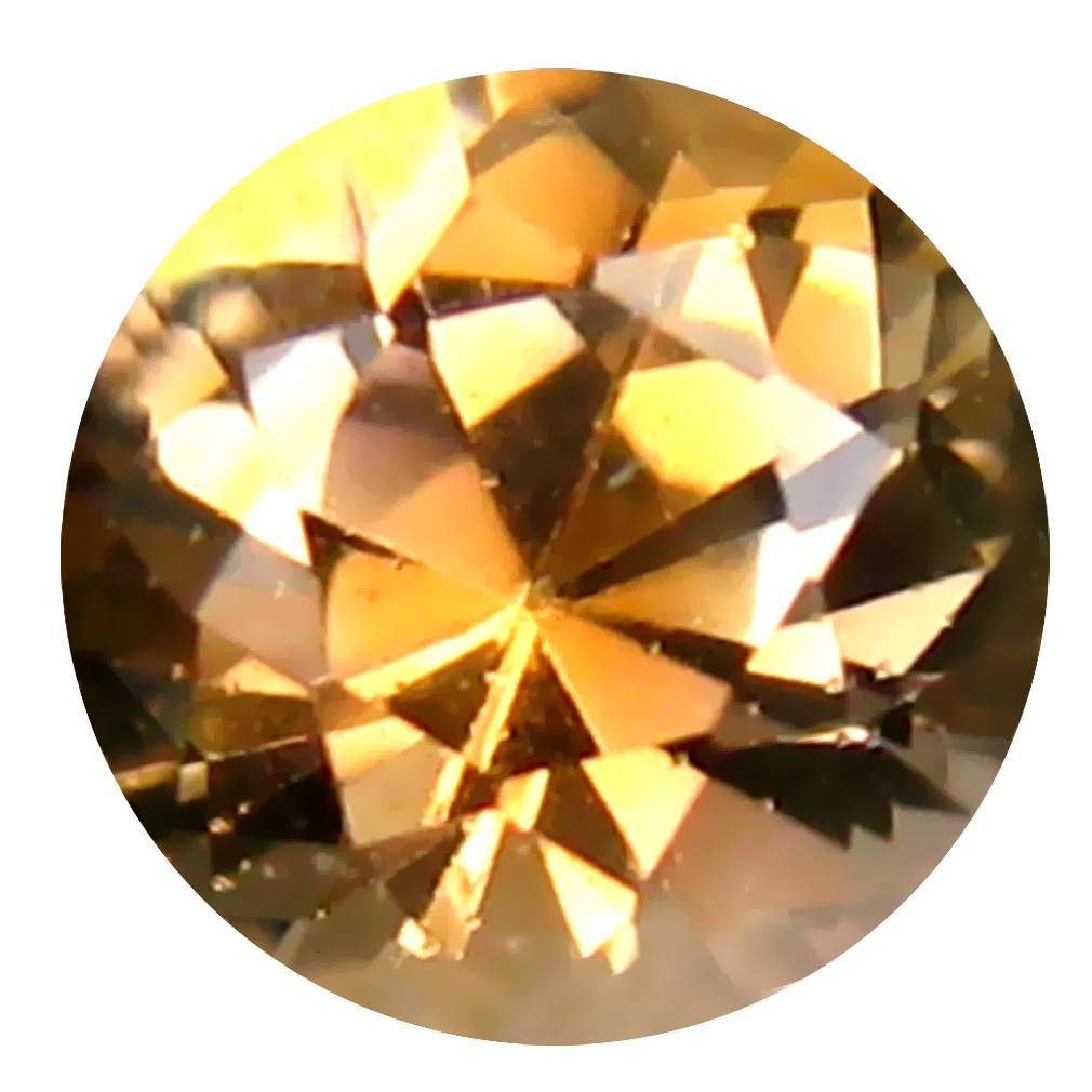 0.51 ct AAA Attractive Round Shape (5 x 5 mm) Fancy Golden Yellow Tanzanite Natural Gemstone