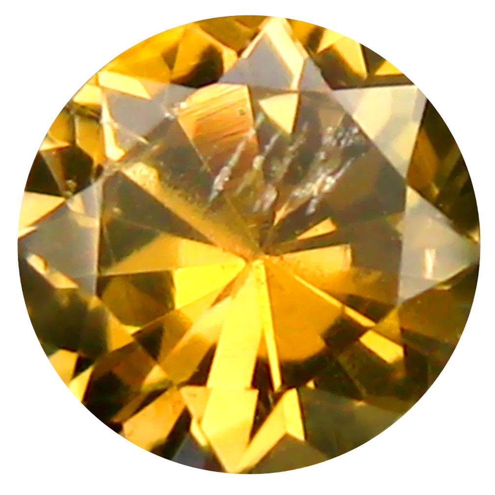 0.40 ct AAA Excellent Round Shape (5 x 5 mm) Fancy Golden Yellow Tanzanite Natural Gemstone