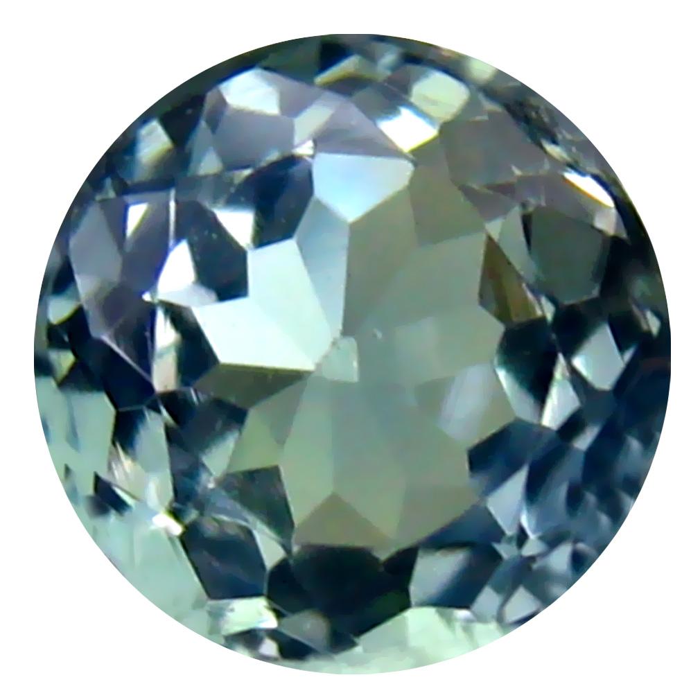 0.84 ct Impressive Round Cut (6 x 6 mm) Greenish Blue Un-Heated Tanzanite Natural Gemstone