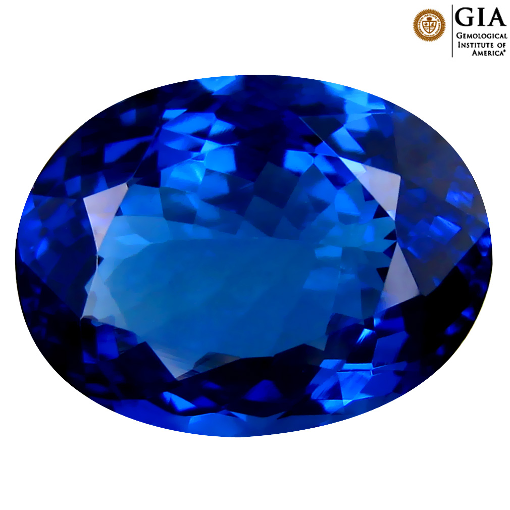 8.27 ct GIA CERTIFIED AAAA SPECTACULAR OVAL CUT (15 X 11 MM) NATURAL D'BLOCK TANZANITE GEMSTONE