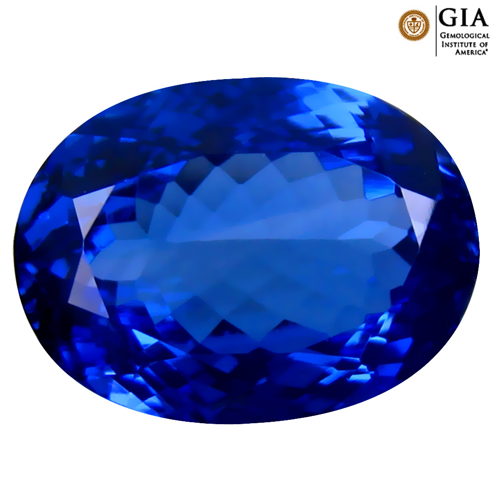 7.16 ct GIA CERTIFIED AAAA FANTASTIC OVAL CUT (14 X 10 MM) NATURAL D'BLOCK TANZANITE GEMSTONE