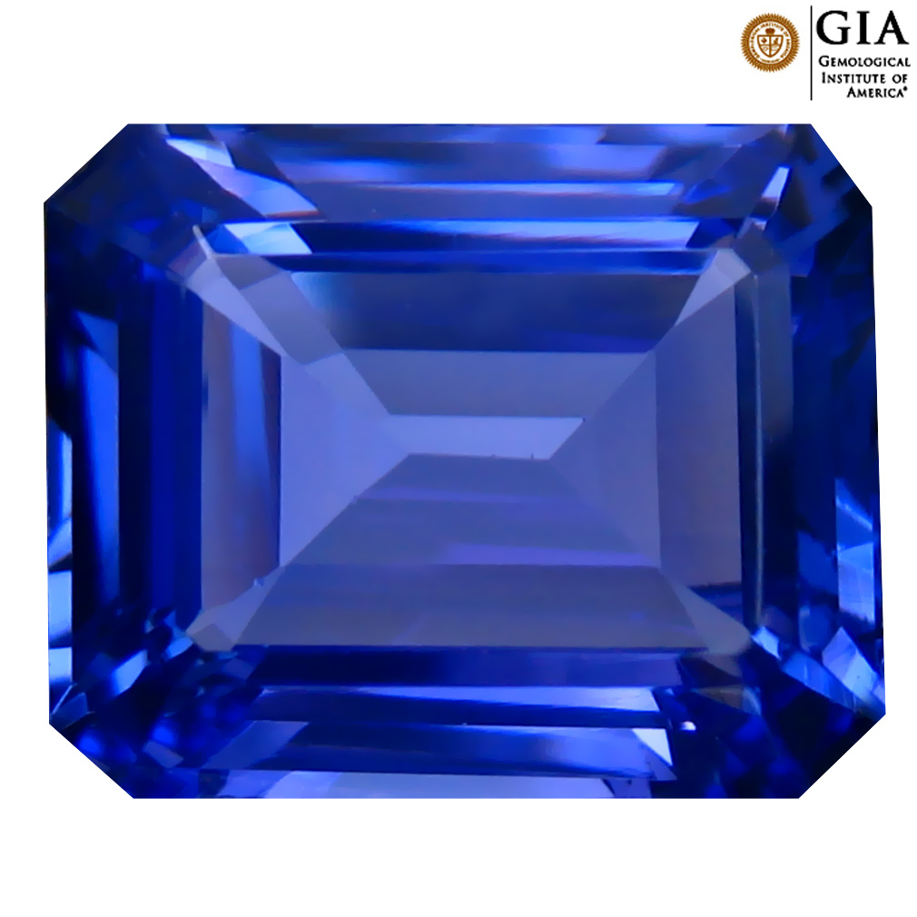 10.15 ct GIA CERTIFIED AAAA SPARKLING OCTAGON CUT (14 X 11 MM) NATURAL D'BLOCK TANZANITE GEMSTONE