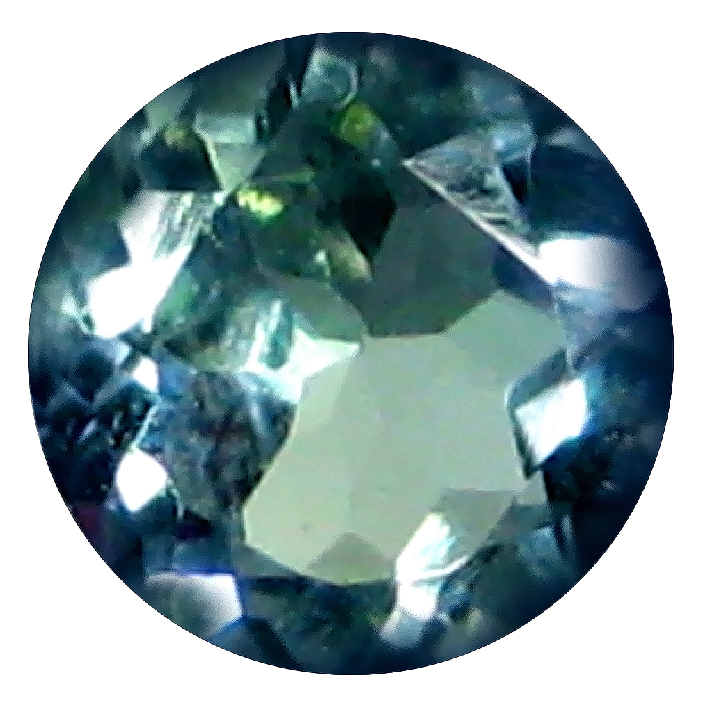 0.49 ct AAA Spectacular Round Shape (5 x 5 mm) Greenish Blue Tanzanite Natural Gemstone