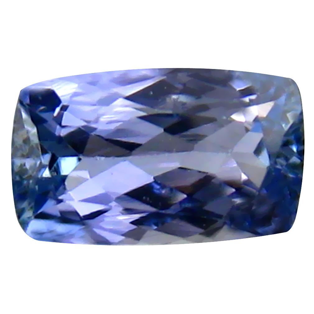 0.71 ct Attractive Cushion Shape (7 x 4 mm) Bluish Violet Tanzanite Genuine Stone