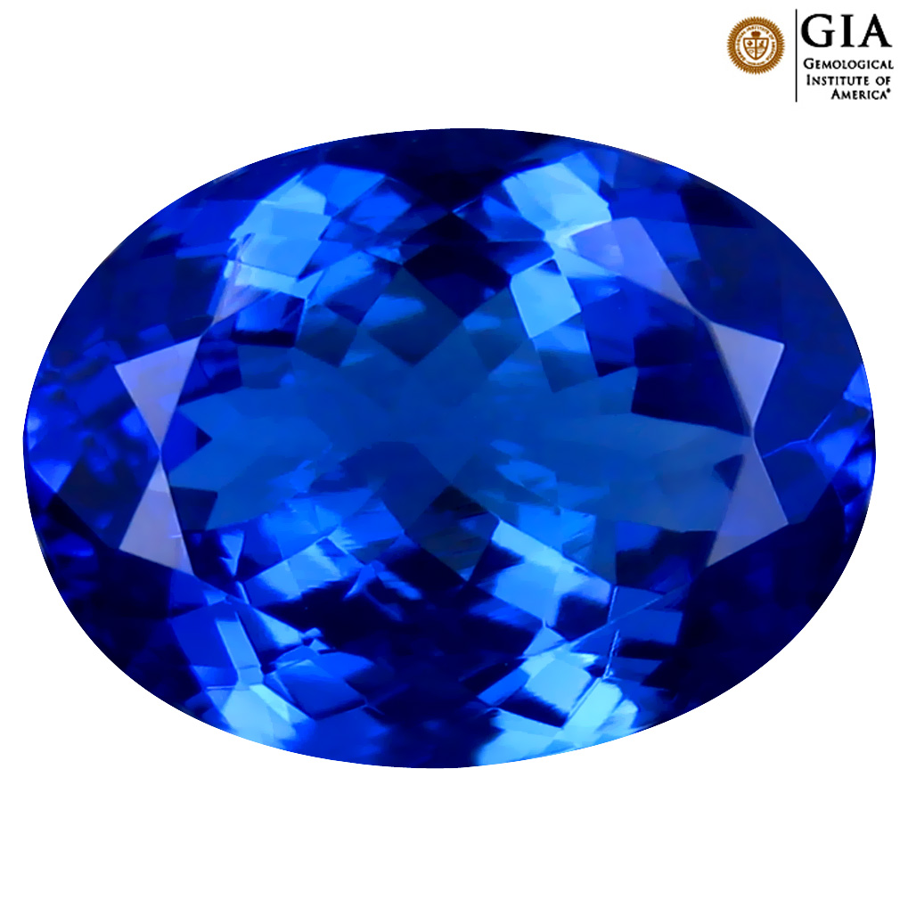 5.35 ct GIA CERTIFIED AAAA GORGEOUS OVAL CUT (13 X 10 MM) NATURAL D'BLOCK TANZANITE GEMSTONE