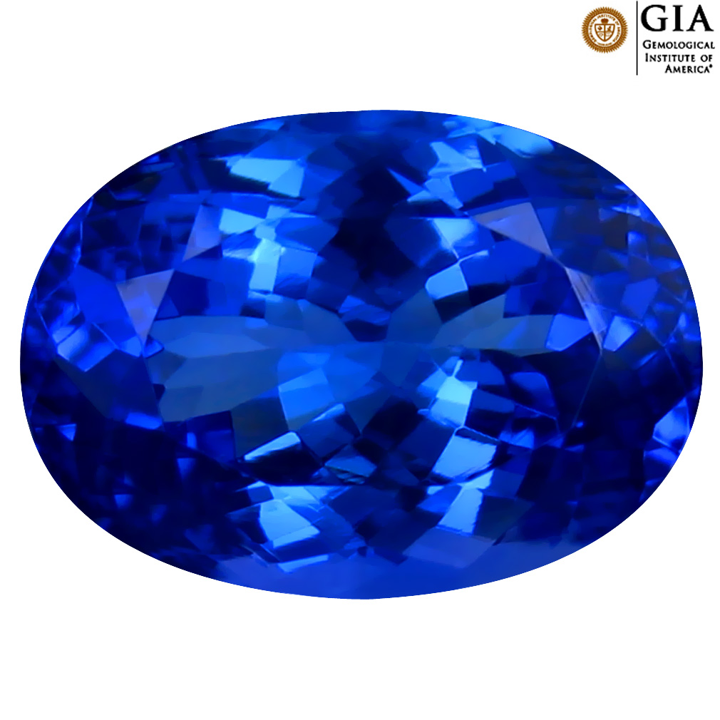 4.77 ct GIA CERTIFIED AAAA SUPER-EXCELLENT OVAL CUT (12 X 9 MM) NATURAL D'BLOCK TANZANITE GEMSTONE
