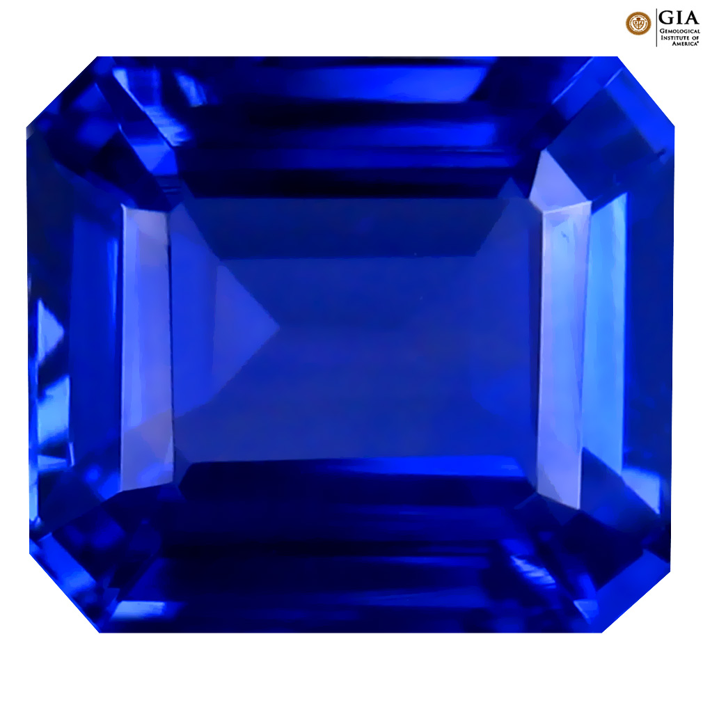 5.42 ct GIA CERTIFIED AAAA MARVELOUS OCTAGON CUT (11 X 9 MM) NATURAL D'BLOCK TANZANITE GEMSTONE