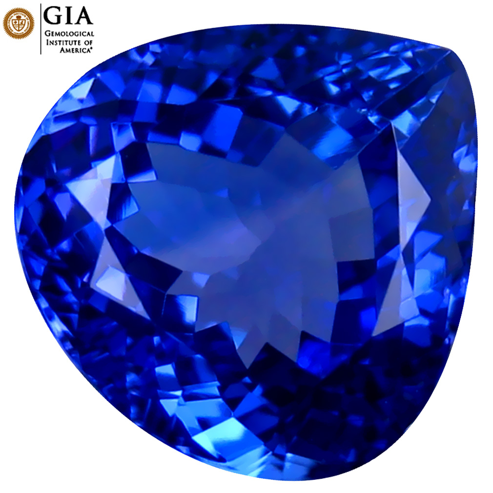 5.25 ct GIA CERTIFIED AAAA VALUABLE PEAR CUT (11 X 11 MM) NATURAL D'BLOCK TANZANITE GEMSTONE