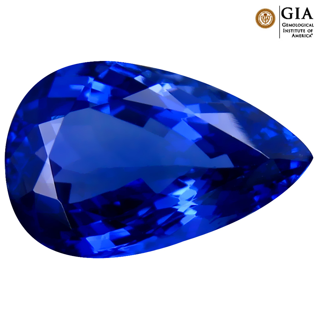 5.53 ct GIA CERTIFIED AAAA SPLENDID PEAR CUT (14 X 9 MM) NATURAL D'BLOCK TANZANITE GEMSTONE
