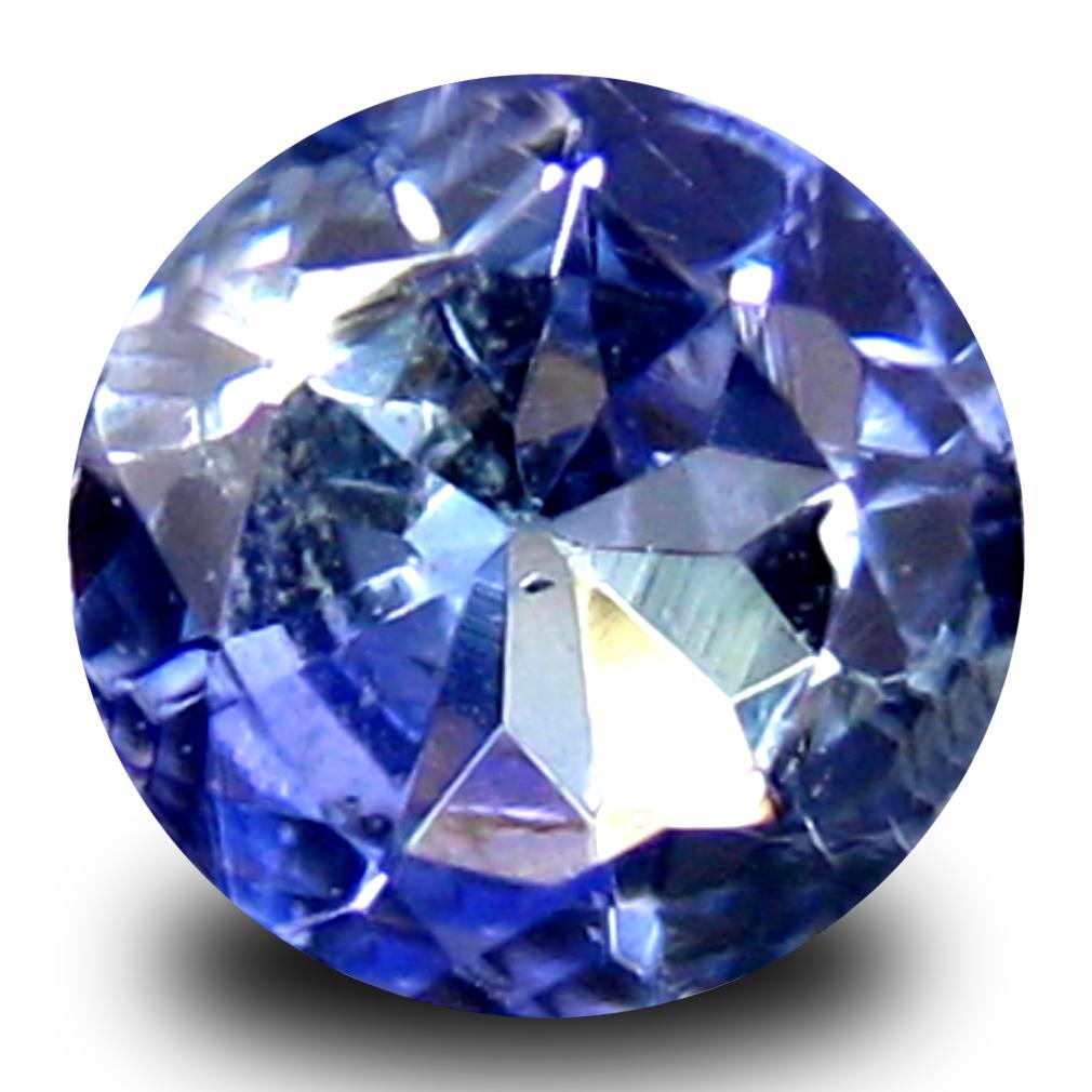 0.42 ct AAA Gorgeous Round Shape (5 x 5 mm) Greenish Blue ...