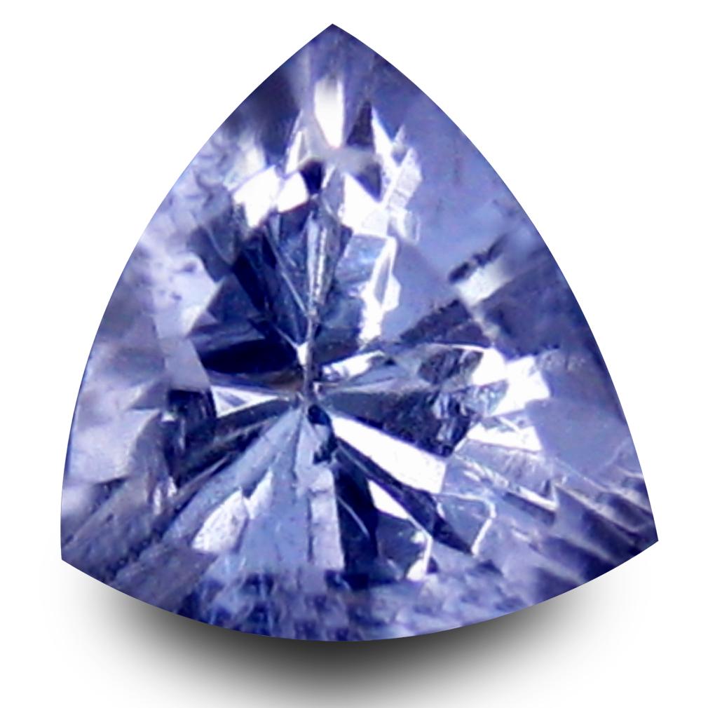 0.55 ct AAA Very good Trillion Shape (5 x 6 mm) Bluish Violet Tanzanite Natural Gemstone