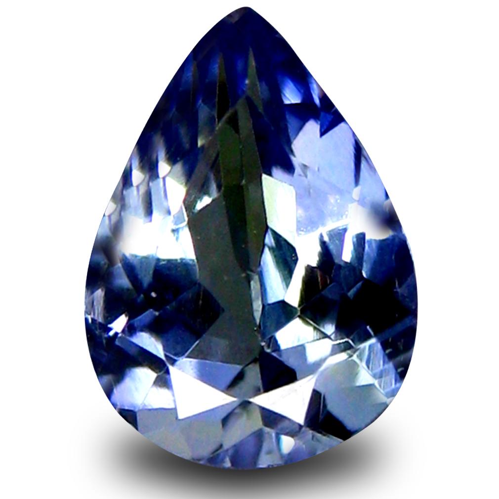 0.65 ct AAA Pretty Pear Shape (6 x 5 mm) Bluish Violet Tanzanite Natural Gemstone