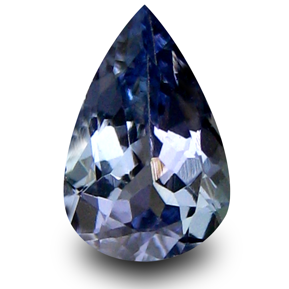 0.53 ct AA+ Fabulous Pear Shape (7 x 5 mm) Bluish Violet Tanzanite Natural Gemstone