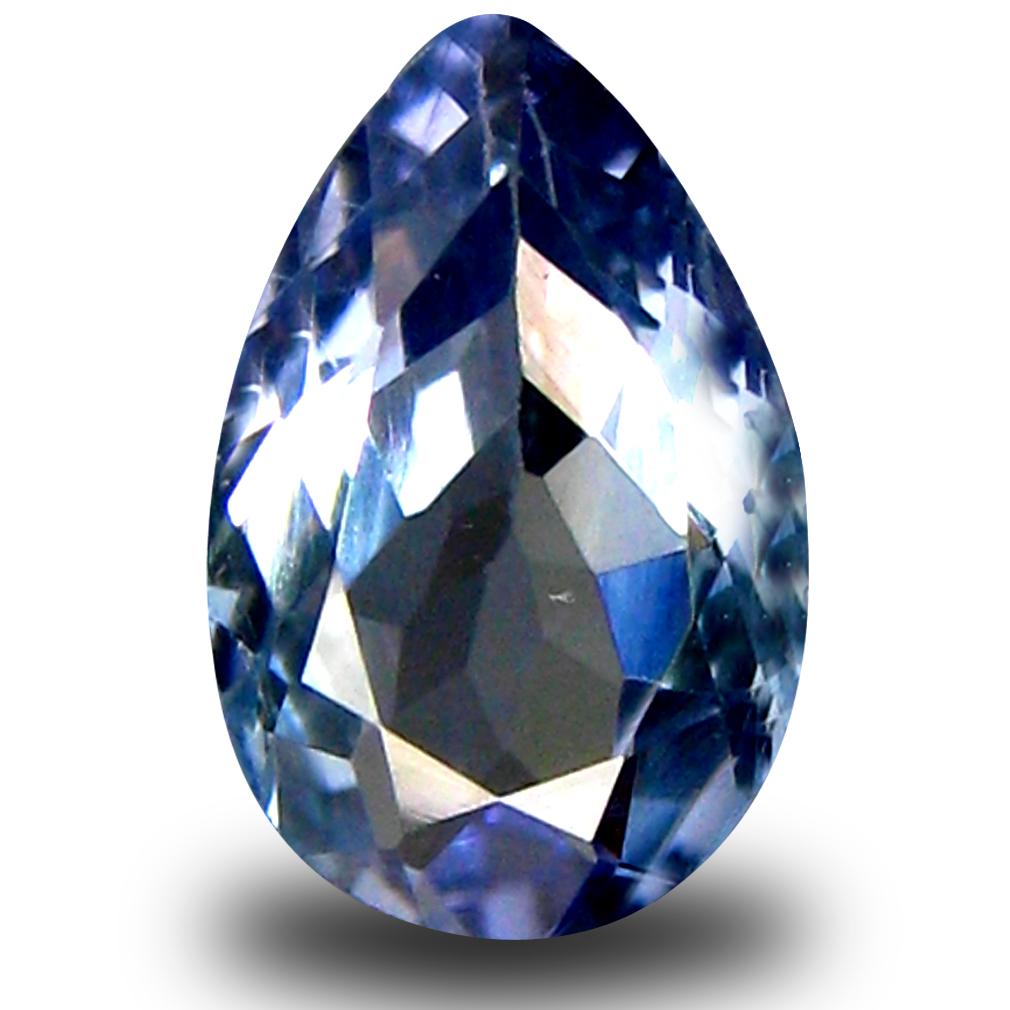 0.99 ct AA+ Flashing Pear Shape (8 x 5 mm) Bluish Violet Tanzanite Natural Gemstone