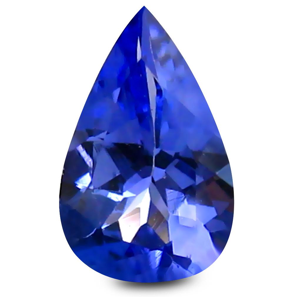 0.38 ct AAA+ Magnificent fire Pear Shape (6 x 4 mm) Purplish Blue Tanzanite Natural Gemstone