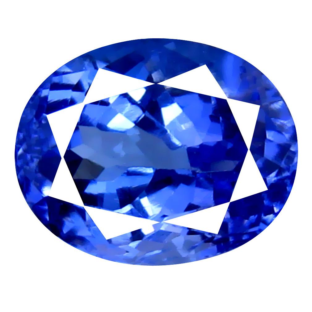 2.72 ct AAA Grade Elegant Oval Cut (9 x 7 mm) 100% Natural Purplish Blue Tanzanite Gemstone