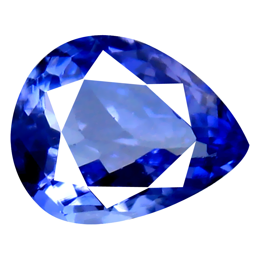 1.79 ct AAA Grade Gorgeous Pear Cut (9 x 7 mm) 100% Natural Purplish Blue Tanzanite Gemstone