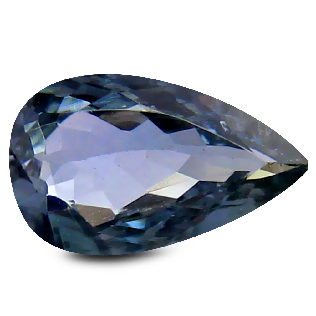 0.76 ct AA+ Supreme Pear Shape (8 x 5 mm) Bluish Violet Tanzanite Natural Gemstone