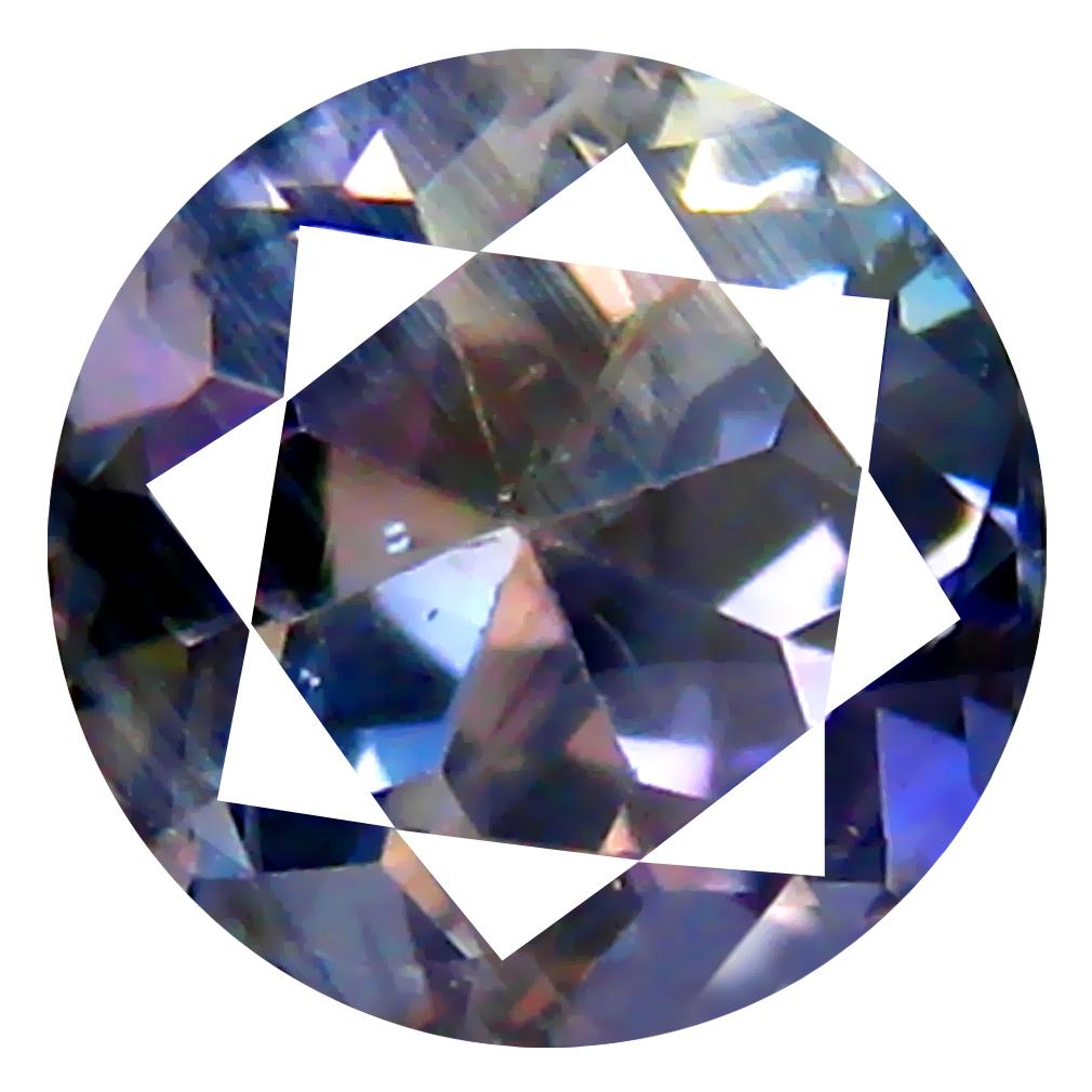 "0.78/"" Moldavite 8x8mm Rh CZ earrings pair silver.925-2.35g #EAR229"