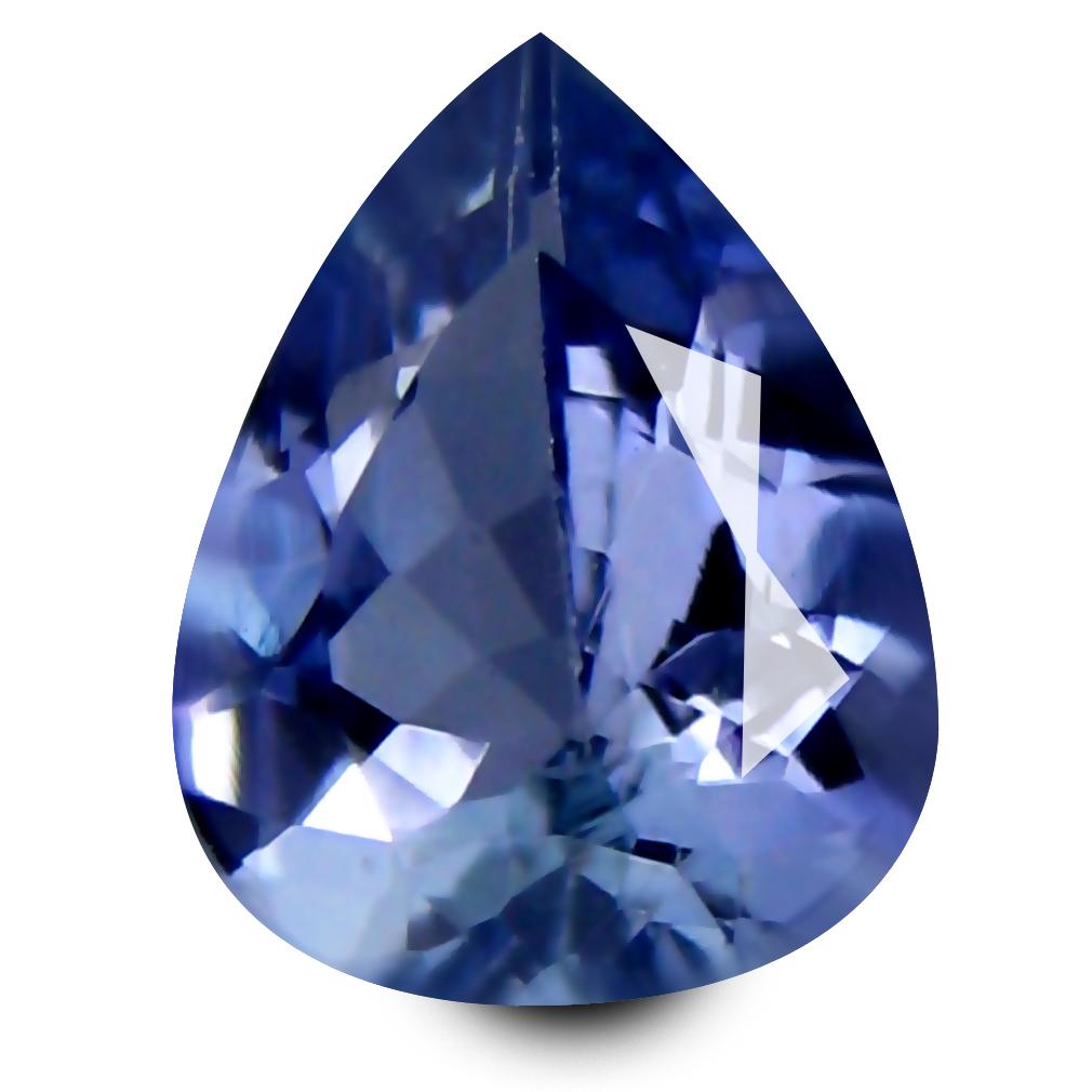 0.60 ct AAA Supreme Pear Shape (6 x 5 mm) Bluish Violet Tanzanite Natural Gemstone