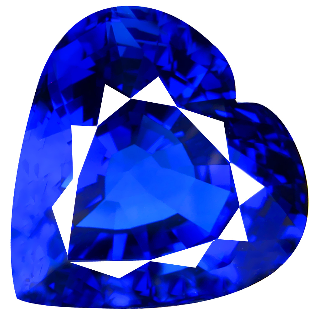 47.73 ct AAAA+ SUPERIOR HEART CUT (21 X 22 MM) 100% NATUAL D'BLOCK PURPLISH BLUE TANZANITE GEMSTONE